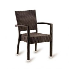 Vanna Stag Arm Chair - Mocha Rattan